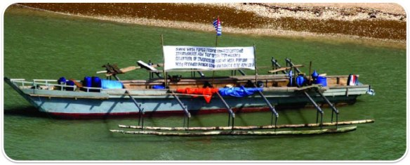 The canoe that brought 43 West Papuan Asylum Seekers to Australia in 2006