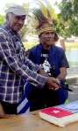 Uncle Kevin Buzzacott (left) & Bapa Terry Bukorpioper West Papua Melbourne Community elder
