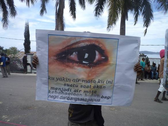 I am certain that one day my tears will become tears of joy for the freedom of the land and people of West Papua