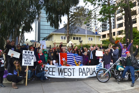 Protestors at Indonesian Consulate 27th August 2013