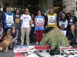 Iranian Hunger Strikers with West Papuans in Freedom Solidarity actions at the Melbourne Immigration Dept
