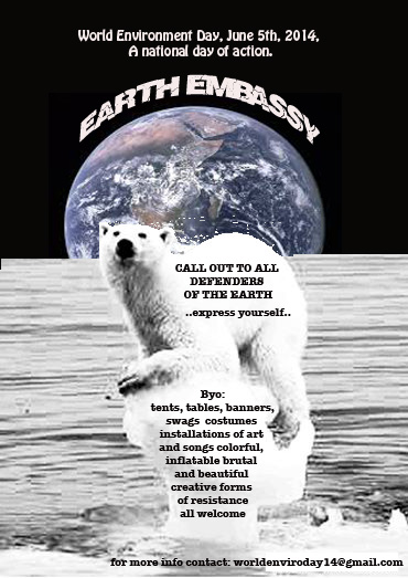 Earth embassy flyer